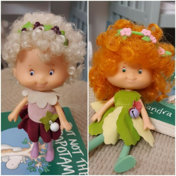 Vintage 1982 Herself the Elf Dolls Snowdrop and Meadow Morn