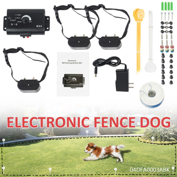 Waterproof Shock Collar Electric Dog Pet safe Fencing System For 3 Dogs