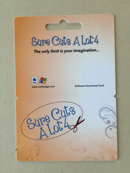 Sure Cuts A Lot 4 Electronic Cutting Machine Software $39.99