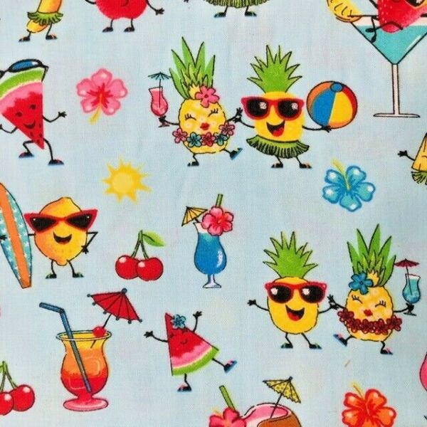 Summer Fun Fruit Cocktails Drinks Over Collar Slide On Pet Dog Cat Bandana $7.50