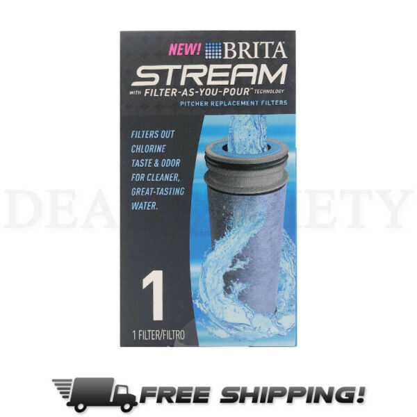 BRITA STREAM Filter As You Pour Pitcher Replacement Cartridge 1 Count NEW SEALED