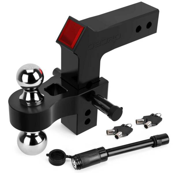 OEDRO Adjustable Trailer Hitch Ball Mount 2.5quot; Receiver 8quot; Drop 15000lbs Black $139.99