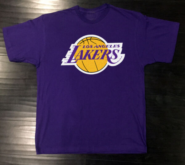Los Angeles Lakers T-Shirt Graphic Cotton Logo LA Adult Men Kobe Bryant