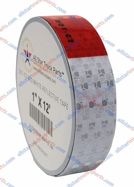 Conspicuity Tape DOT C2 Reflective Truck Trailer Safety Red White: 1quot; 2quot; 3quot; Wide $8.95