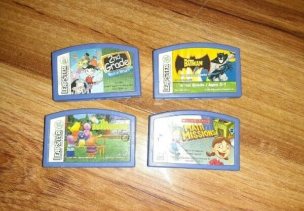 #L) LOT OF Leapster Leap Frog Games Batman Math Missons The Backyardigans $7.50