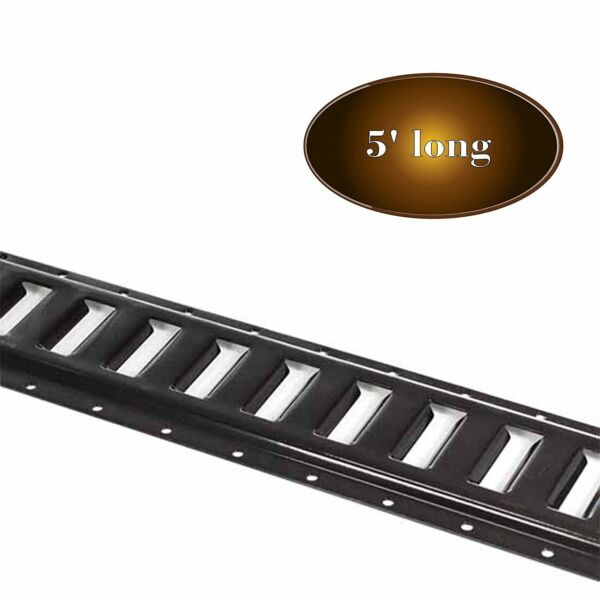 5 Ft E Track Tie Down Rail System Powder Coated for Truck Trailer 5#x27; ETrack $29.99