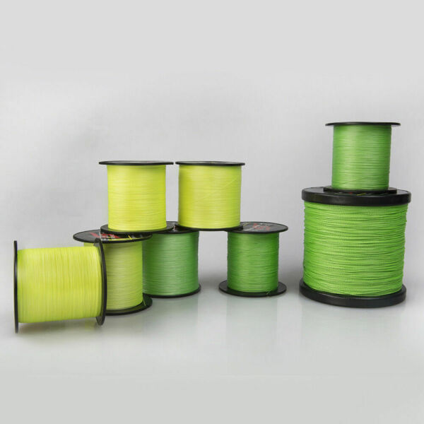 Hercules 4Strands Braid PE Fishing Line Fluorescent Green Yellow Strong Extreme