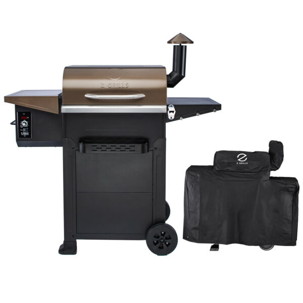 Z GRILLS Wood Pellet Grill BBQ Smoker Digital Control with Cover ZPG L6002B