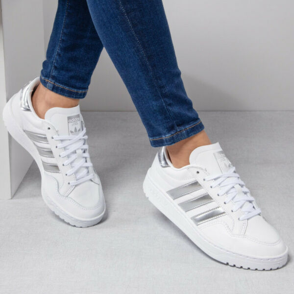 Sports Shoes Woman ADIDAS Team Court W White Silver New Sneakers Leather