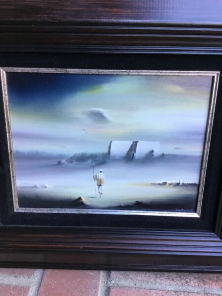 Mid Century Listed Artist Robert Watson Original signed homeward  landscape