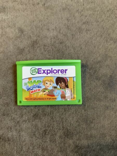 LeapFrog LEAP SCHOOL MATH Game Cartridge For Leapster Explorer Leap $8.99