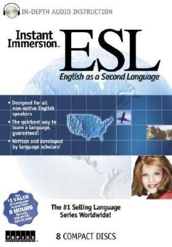 Instant Immersion ESL Audio CD By Topics Learning VERY GOOD $10.85