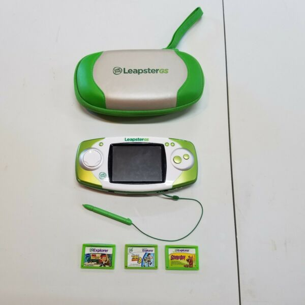 Leap Frog Leapster GS Explorer with Stylus Case & Games Free Shipping $24.99