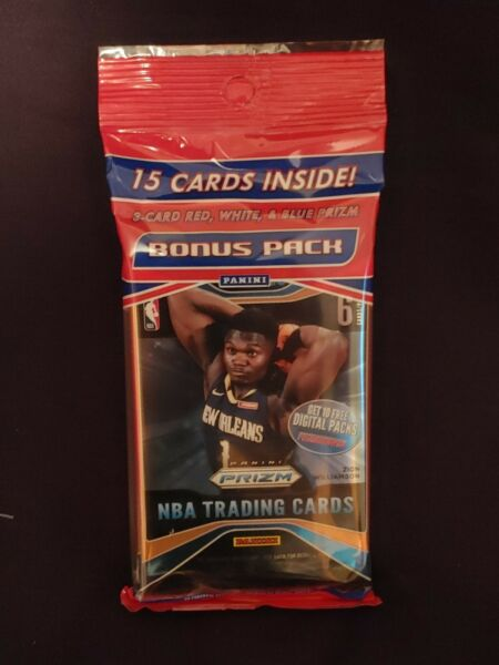 2019-20 Panini Prizm Cello Fat Pack Sealed 15 Cards ZION MORANT Red White QTY