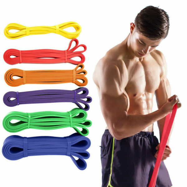 Workout Resistance Bands Exercise Band Equipment Gym Yoga Fitness Pull Up Assist