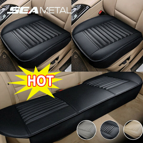 US Universal Car Seat Cover PU Leather Front Rear Set Full Surrounding Cushion $24.99