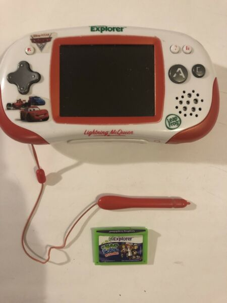 Leap frog leapster explorer Cars Lightning McQueen Edition With Leap School Game $29.99