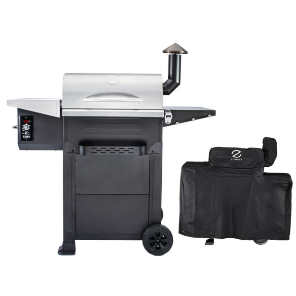 Z GRILLS Wood Pellet Grill BBQ Smoker Digital Control with Cover ZPG L6002E
