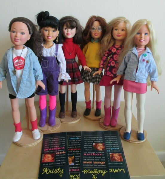 Lot of 6 Vintage Baby-Sitters Club Dolls 1990s Kenner BSC EUC Vinyl 18
