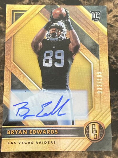Bryan Edwards Auto RC SP Gold Standard Serial Number 033199