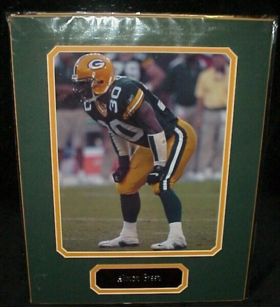 Ahman Green Packers Matted Photo amp; Name Plate 11x14 Ready for Framing A54