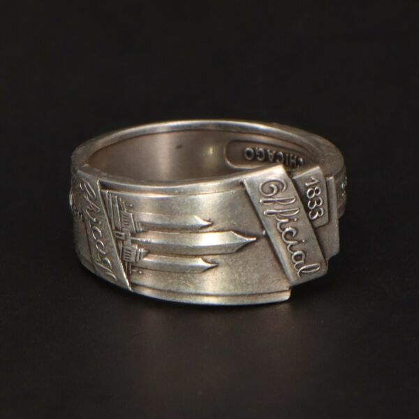 VTG Sterling Silver - Chicago Century of Progress Spoon Handle Ring Size 9 - 9g