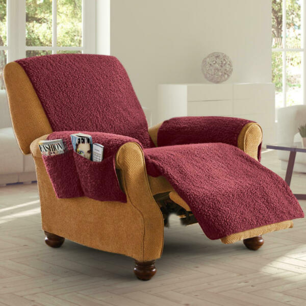 Fleece Recliner Furniture Cover with Pockets $19.99