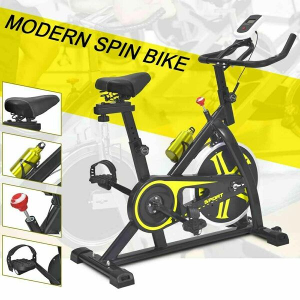 Stationary Exercise Bike Cardio Cycling Fitness Equipment Water Bottle Home Gym $189.90