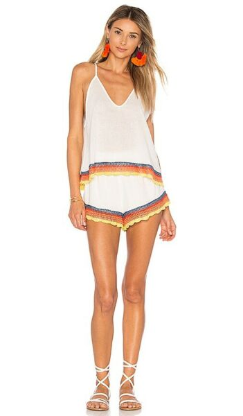 Free People White Fire Set Crochet Accent Size 2