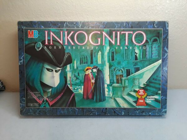 Inkognito Board Game German Edition pre owned complete