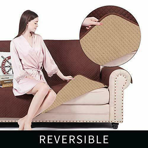 LAZY CALA LIFE Chair Sofa Slipcovers Reversible Couch Protector up to 70 inche