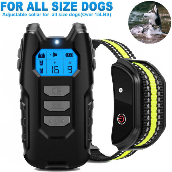 Dog Shock Training Collar Pet Rechargeable LCD Remote Control Hunting Waterproof $34.89