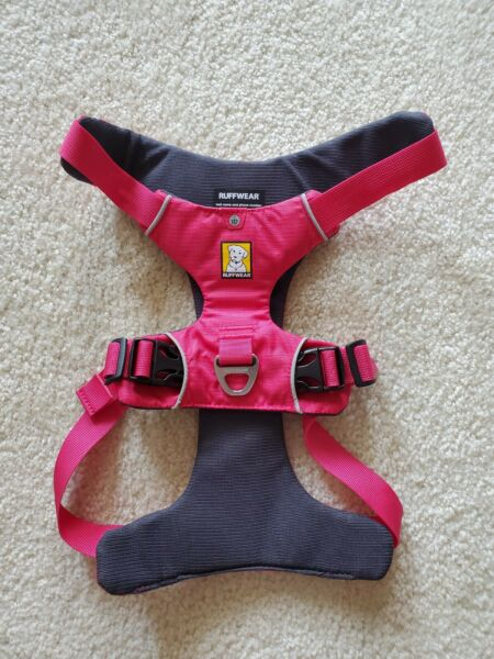 RUFFWEAR FRONT RANGE DOG HARNESS PADDED EASY ON OFF LIGHT PINK SMALL $25.00