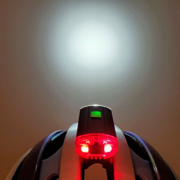 GEM MACRO DUO HEADLUX Helmet Mount LED Light Rechargeable Front Rear Bike $24.95
