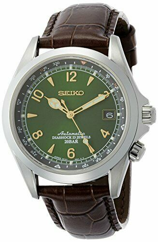 Seiko Alpinist Automatic Movement Green Dial Men#x27;s Watches SARB017 $400.00