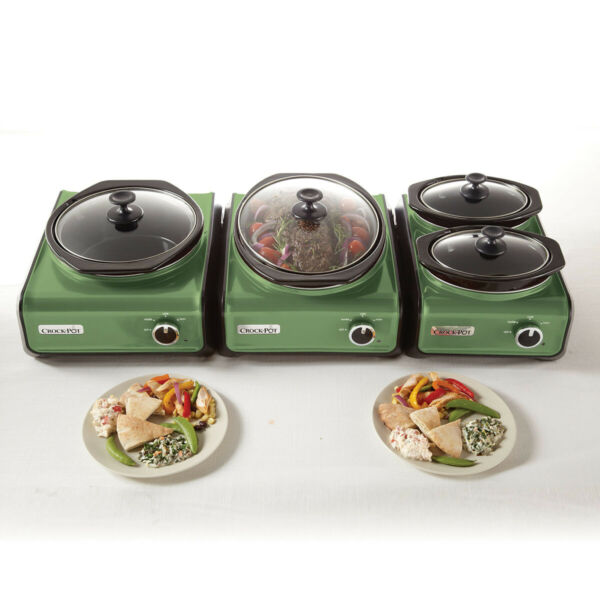 Crock Pot Hook Up Connectable Entertaining System Green
