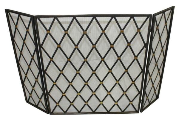 FIREPLACE SCREENS quot;BRIDGEPORT MANORquot; FIREPLACE SCREEN BURNISHED GOLD