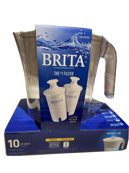 Brita Water Filter Pitcher 10 Cup Capacity 2 Filters FREE SHIPPING