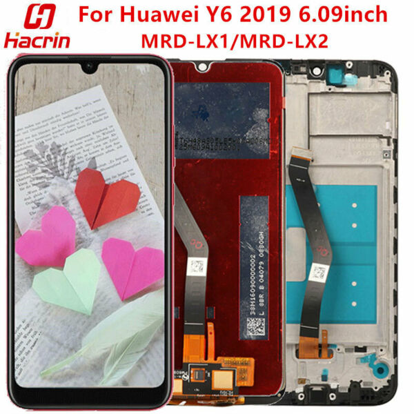 LCD For Huawei Y6 2019 MRD LX1 LX2 LCD Display Touch Screen with Frame Assembly
