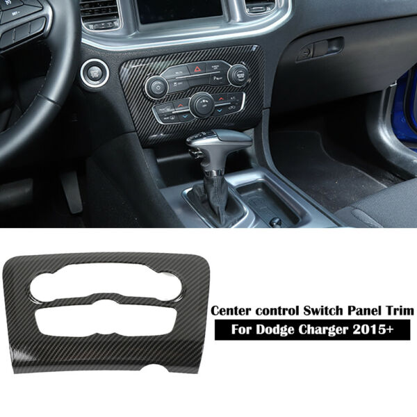 Carbon Fiber Air Conditioner Switch Panel Cover Trim for Dodge Charger 2015 2020 $26.88