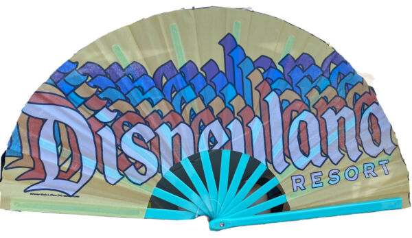 New Disneyland Folding Hand Fan Retro Multi Color Disney Parks $29.99