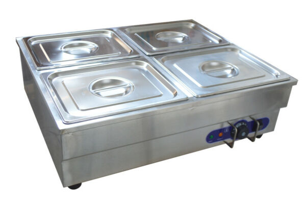 4 Pan Electric Food Warmer Bain Marie Buffet Steam Table Heater 110V 1500W