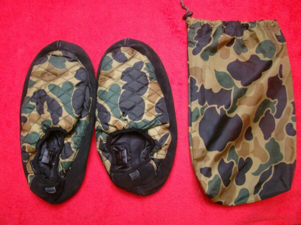 Plusheez Camo Slip on Soft Bottom Foot Warmer Leather Slippers Size 12 13 $12.99