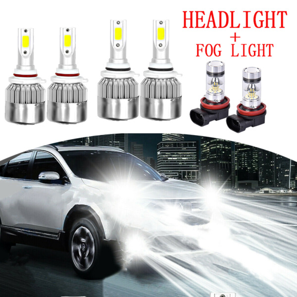 For Honda Civic 2006 2012 2013 2014 2015 LED Headlight High Low Fog Light Bulbs