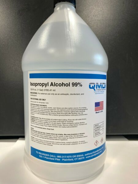 Isopropyl Alcohol 99% 1 gallon 128 FLUID OZ. 3785.41 ML