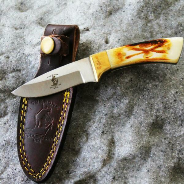 6.25quot; Bone Collector Slim Skinning Hunting Knife with Leather Sheath