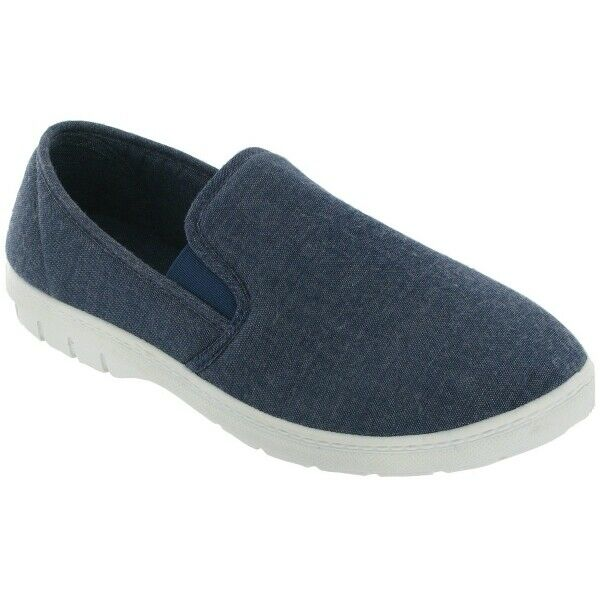 Mirak TOMMY Mens Casual Lightweight Flexible Canvas Easy Slip On Shoes Navy $54.00