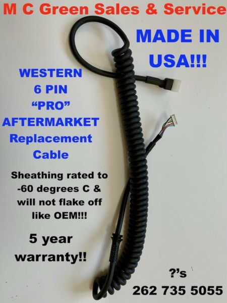 USA WESTERN CAB COMMAND SNOW PLOW 6 PIN STRAIGHT BLADE HANDHELD CONTROLLER CORD