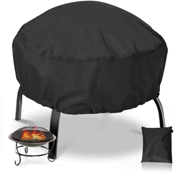 NASUM Fire Pit Cover Round 36x36 Inch Waterproof 420D Heavy Duty Round Patio New