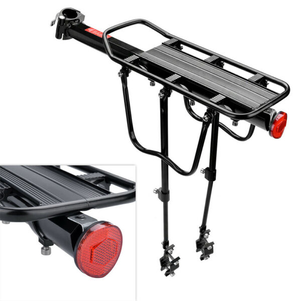 Rear Bicycle Rack Cargo Rack Quick Release Alloy Carrier 110 Lb Capacity New $19.99